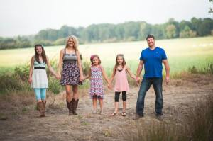 My family: Geoff, Kyndall, Sam and Ashlynn