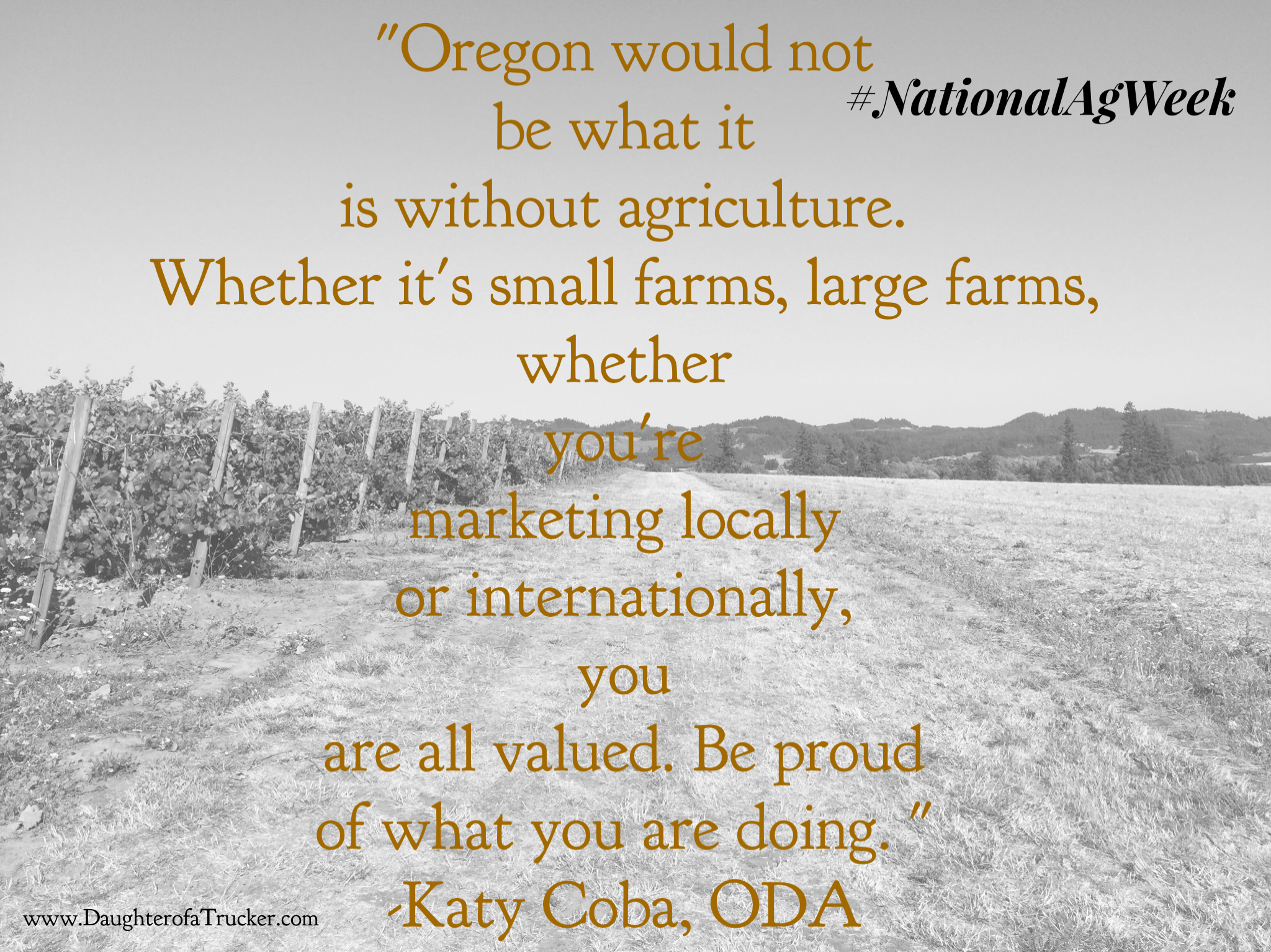 Ag Quote National Ag Week_Katy Coba Quote  Daughter Of A Trucker